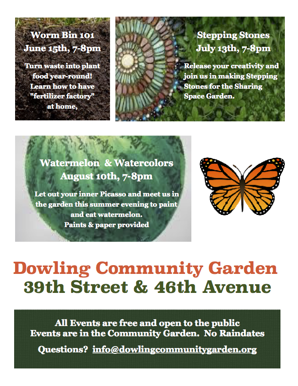 Dowling Community Garden Events